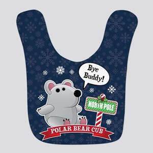Polar Bear Bye Buddy Polyester Baby Bib