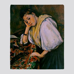 Cezanne - Young Italian Girl Resting Throw Blanket