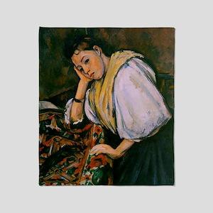 Cezanne - Young Italian Girl Resting Throw Blanket