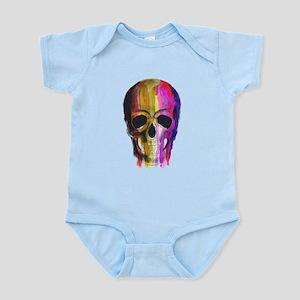 Rainbow Painted Skull Body Suit