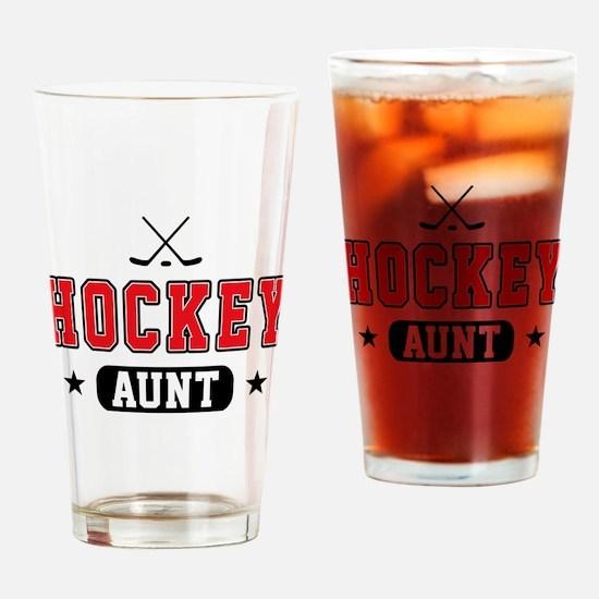 Hockey Aunt Drinking Glass