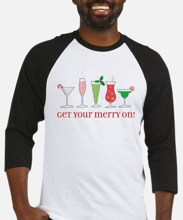 get your merry on. Baseball Jersey