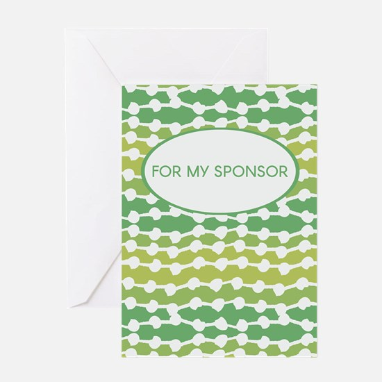 Sponsor (Vine Graphic) Greeting Cards