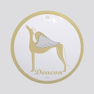 DEACON ANGEL GREY ROUND ORNAMENT
