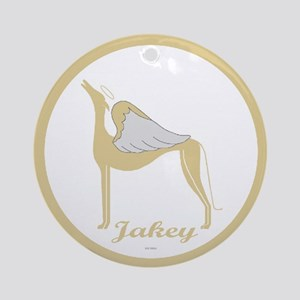 JAKEY ANGEL GREY ROUND ORNAMENT