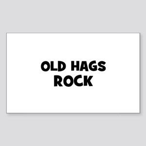 Old Hags Rock Rectangle Sticker