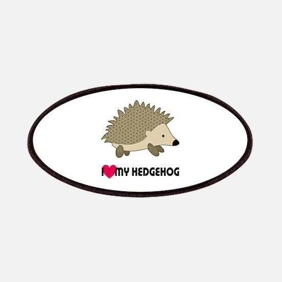 I Love My Hedgehog Patch