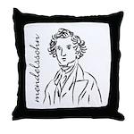 Felix Mendelssohn Throw Pillow