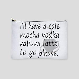 latte vodka humor Makeup Bag