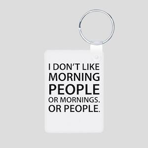 Morning People Aluminum Photo Keychain Keychains