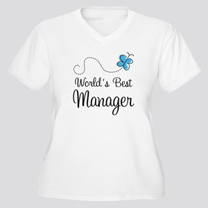 Manager or Boss Women's Plus Size V-Neck T-Shirt