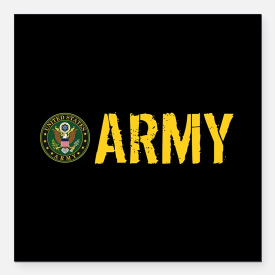 "U.S. Army: Army Square Car Magnet 3"" x 3"""