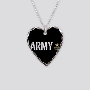 U.S. Army: Army (Black) Necklace Heart Charm