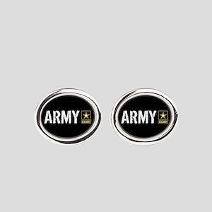 U.S. Army: Army (Black) Oval Cufflinks