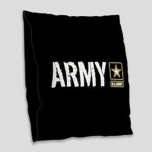 U.S. Army: Army (Black) Burlap Throw Pillow