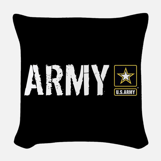 U.S. Army: Army (Black) Woven Throw Pillow
