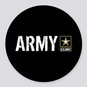 U.S. Army: Army (Black) Round Car Magnet
