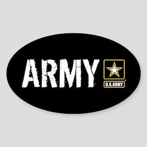 U.S. Army: Army (Black) Sticker (Oval)