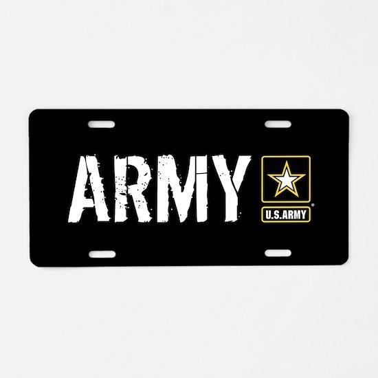 U.S. Army: Army (Black) Aluminum License Plate
