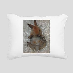 Mini Rex Baby Rectangular Canvas Pillow
