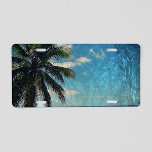 Caribbean Blue Aluminum License Plate