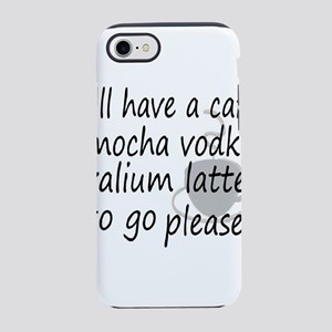 latte vodka humor iPhone 8/7 Tough Case