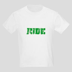 Jude Name Weathered Green Design T-Shirt