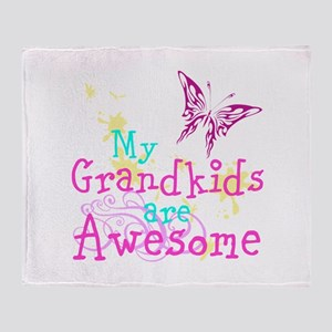Awesome Grandkids Throw Blanket