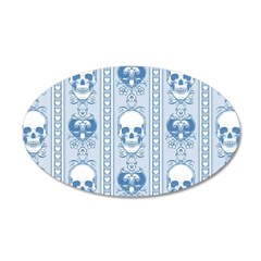 Baroque Skull Stripe Pattern Wall Decal