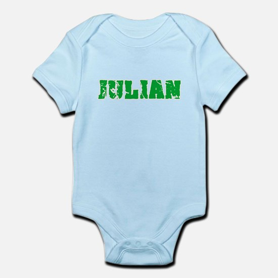 Julian Name Weathered Green Design Body Suit