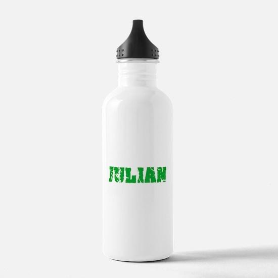 Julian Name Weathered Water Bottle