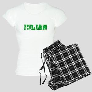 Julian Name Weathered Green Design Pajamas