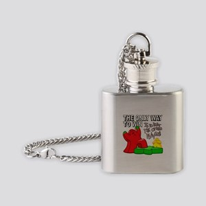 The Only Way to Win Flask Necklace