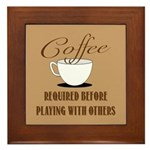 Coffee Required Framed Tile