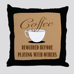 Coffee Required Throw Pillow