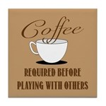 Coffee Required Tile Coaster