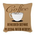 Coffee Required Woven Throw Pillow