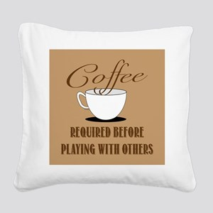 Coffee Required Square Canvas Pillow