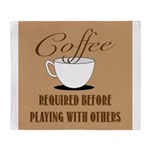 Coffee Required Throw Blanket
