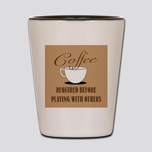 Coffee Required Shot Glass