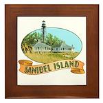 Sanibel Lighthouse - Framed Tile