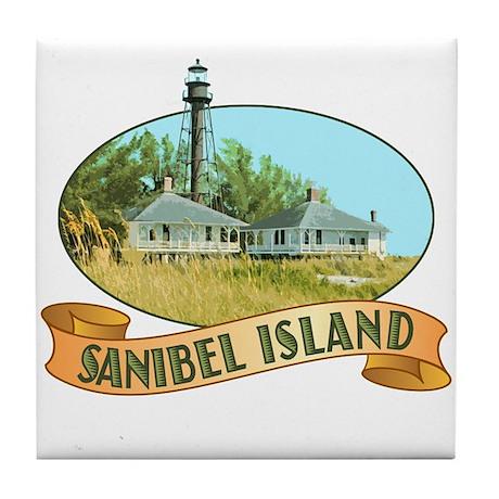 Sanibel Lighthouse - Tile Coaster