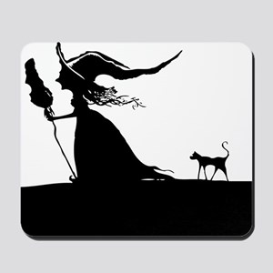 Witch & Cat Mousepad