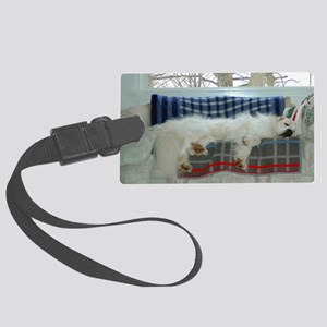 Great Pyrenees Large Luggage Tag