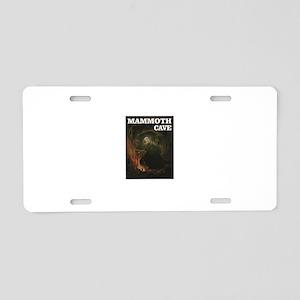 cool mammoth cave art Aluminum License Plate