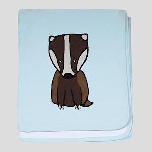 Baby Badger baby blanket