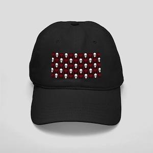 Baroque Skull Stripe Pattern Red Black Cap