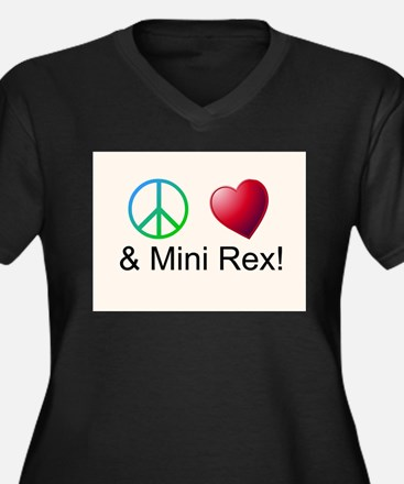 Peace Love Mini Rex Plus Size T-Shirt