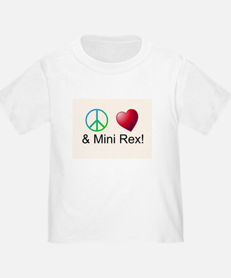 Peace Love Mini Rex T-Shirt