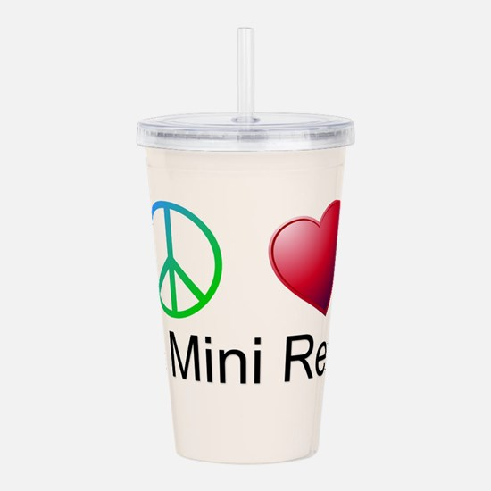 Peace Love Mini Rex Acrylic Double-wall Tumbler